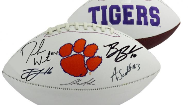 a73b16b811e 2016 Champion Clemson Tigers Team Signed Memorabilia