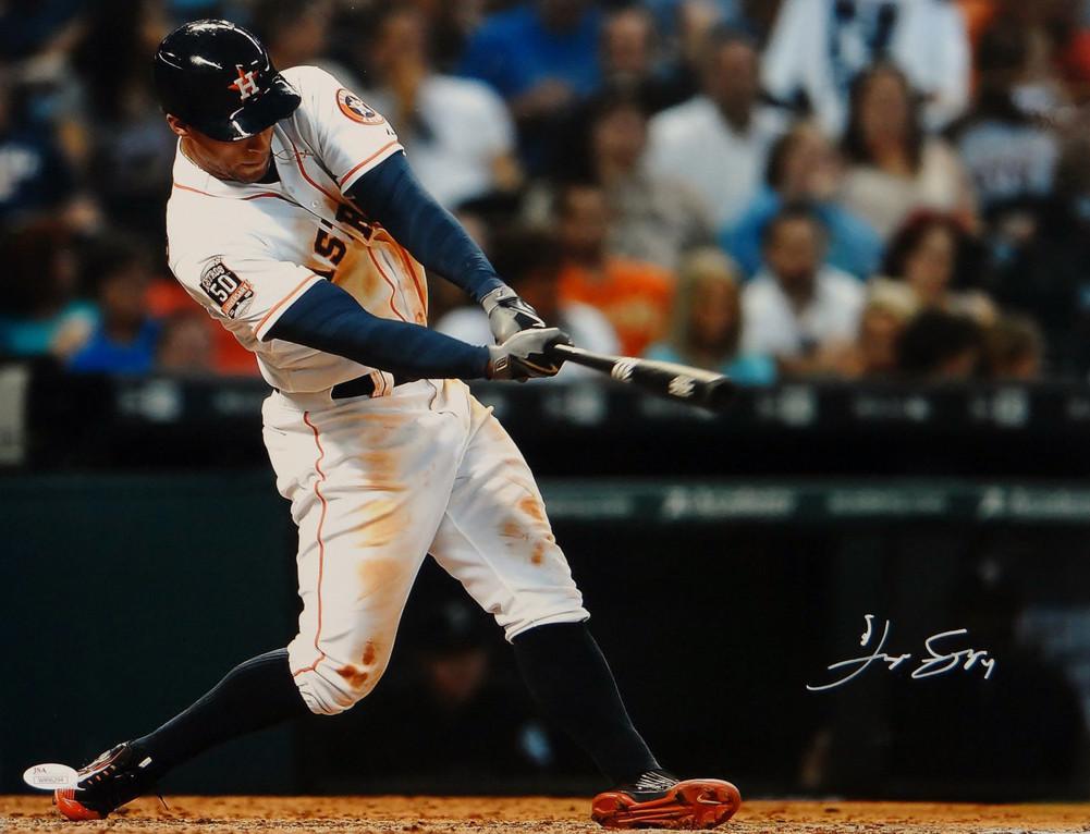 george_springer_signed_houston_astros_16x20_horizontal_batting_photo_jsa_authentication_p1327197